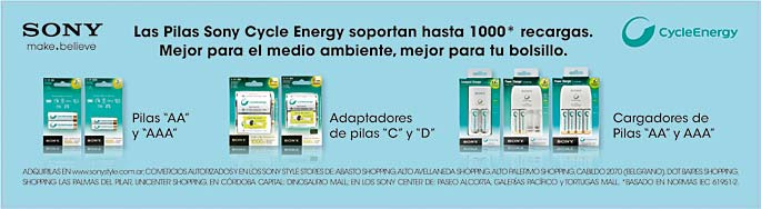 Sony Cycle Energy Cenefas