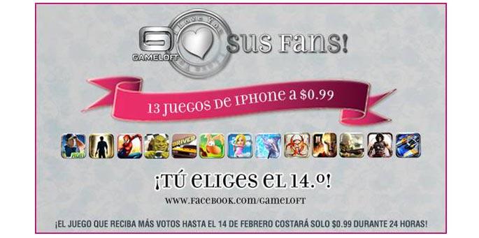 Gameloft Promoción San Valentín