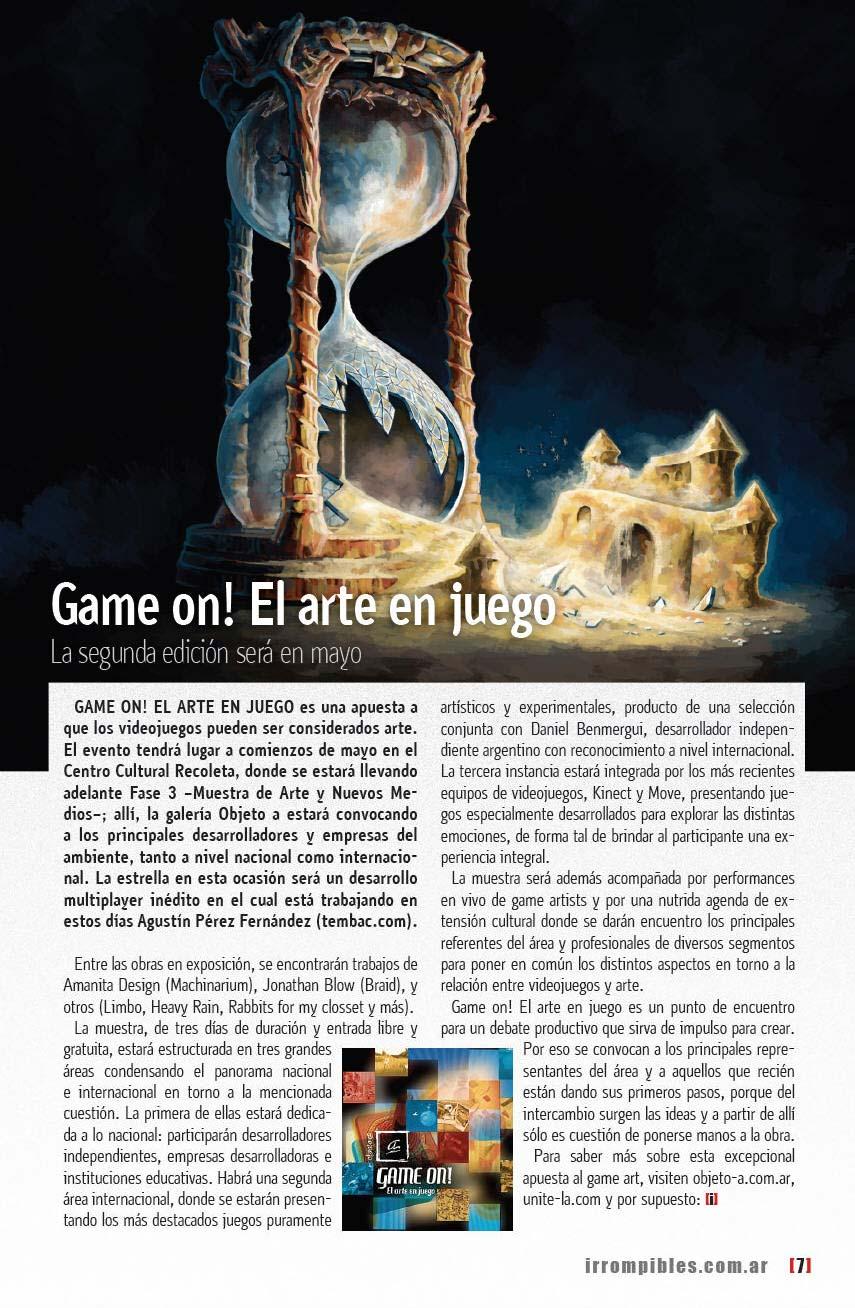 Game On! Segunda Edición en [i] Revista