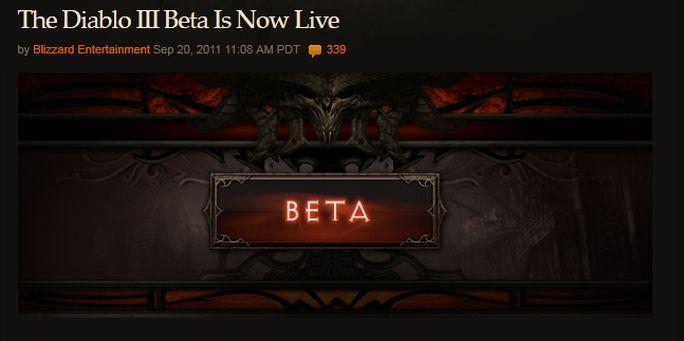 Empezó la Beta de Diablo III