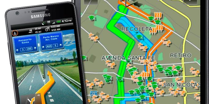 Android con mapa NAVTEQ
