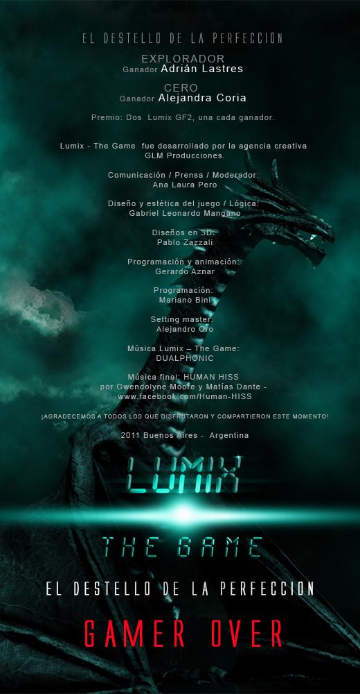 LUMIX: The Game, los ganadores y créditos