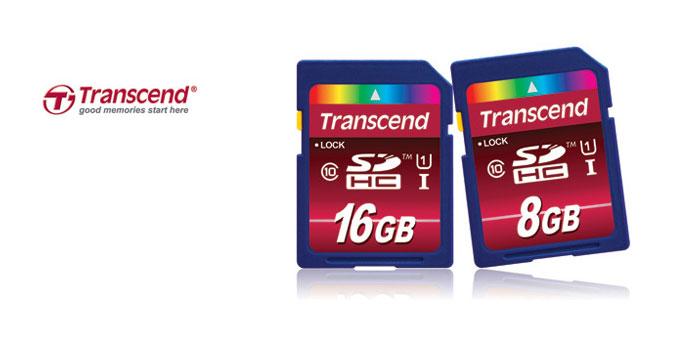 Trascend: tarjetas SDHC Class 10 UHS-I