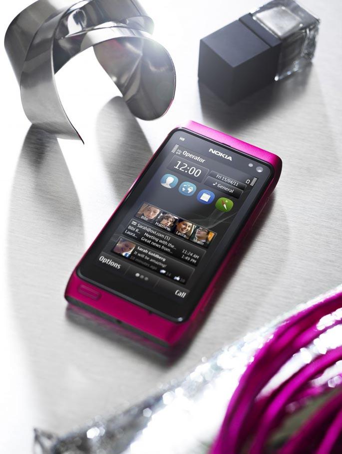 Nokia N8 magenta con CLARO