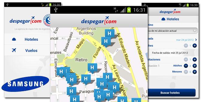 Despegar.com y Samsung Apps