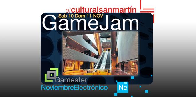 Game Jam en Noviembre Electrónico y Game On!
