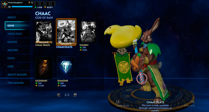 smite chaacolate