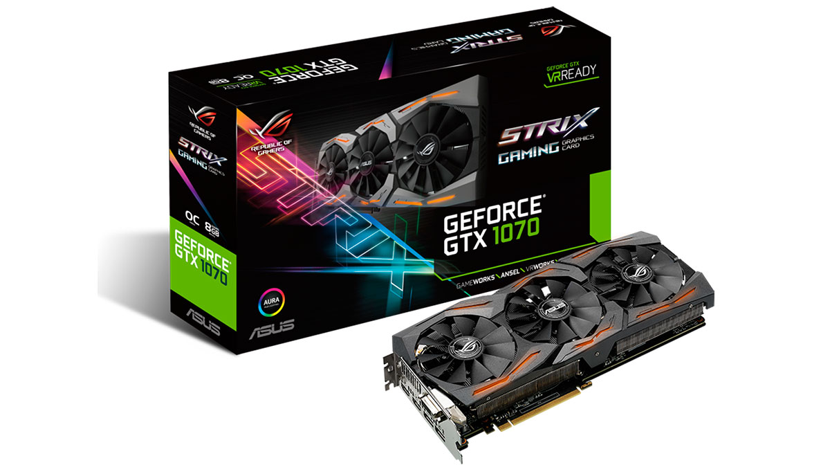 rog asus strix geforce 1070 main