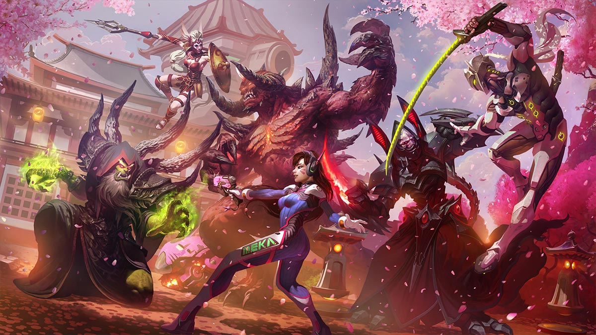 heroes of the storm hanamura cassia genji dva
