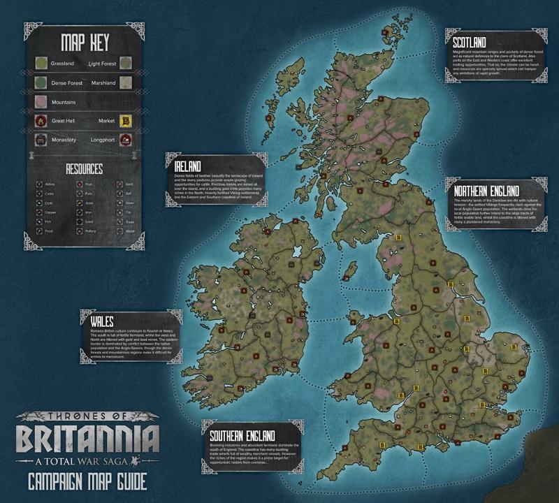 Un completo y realista mapa de Gran Bretaña.