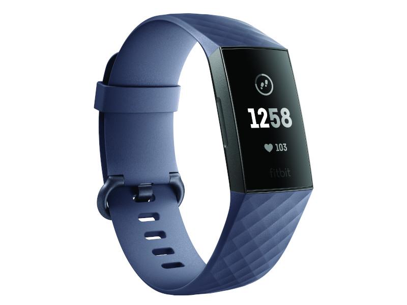 Charge 3 3QTR Core Blue Gray Graphite Clock
